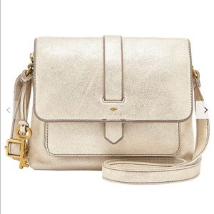 Fossil Kinley Small Leather CrossBody BagPale Gold